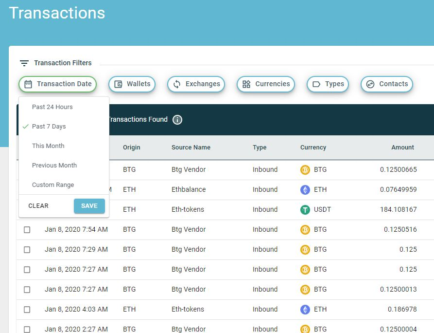 New Transactions Table Interface Now in BETA